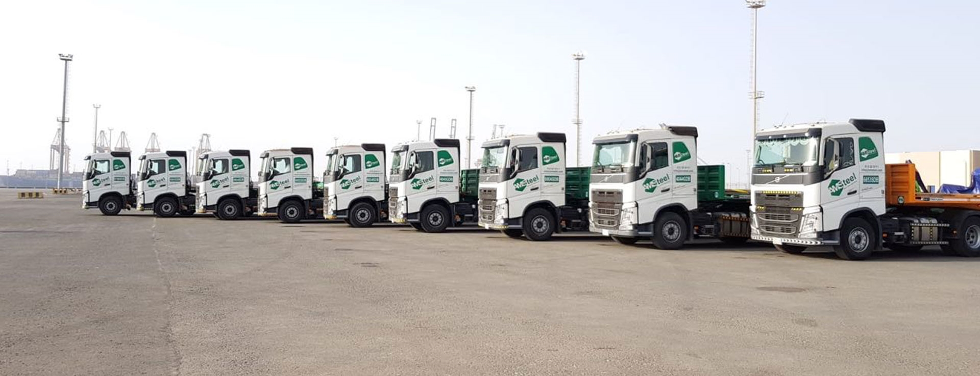 Our Fleet | Amsteel - We Can Handle  Transportation, material and
